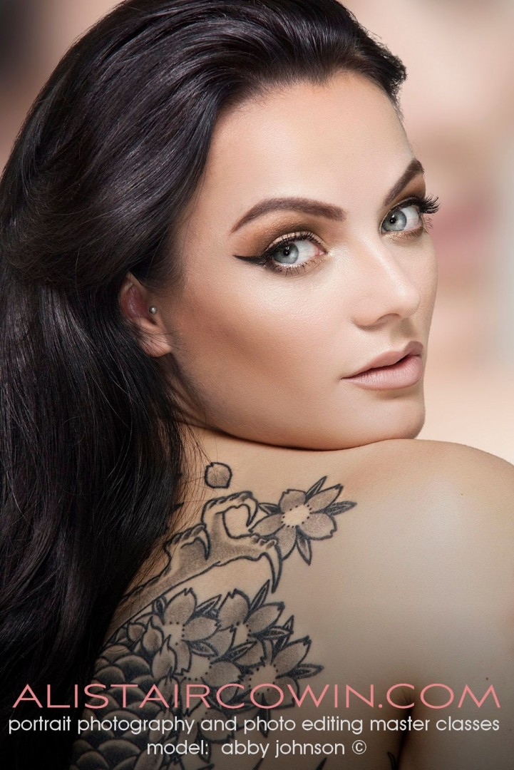 Photographed for Alistair Cowin's Beauty Books and the model's Portfolio<br /> Model: Abby Johnson   MUA: Hannah Field