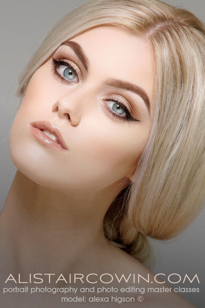 Photographed for Alistair Cowin's Beauty Books and the model's Portfolio. <br /> Model: Alexa Higson   MUA: Hannah Field