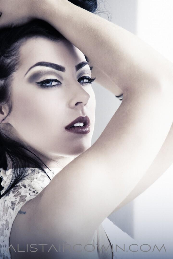 Studio portrait for model's Portfolio