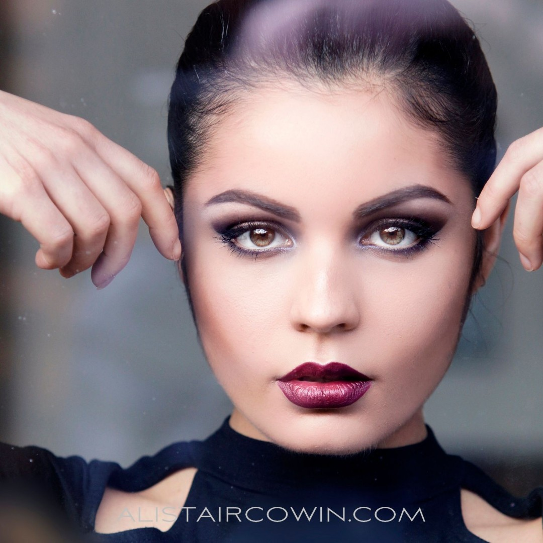 Photographed for Alistair Cowin's Beauty Books and the model's Portfolio<br /> Makeup: Hannah Field<br /> Model: Nadia Achha