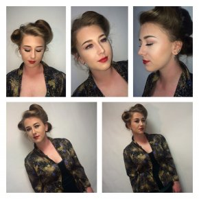 1940s themed makeup