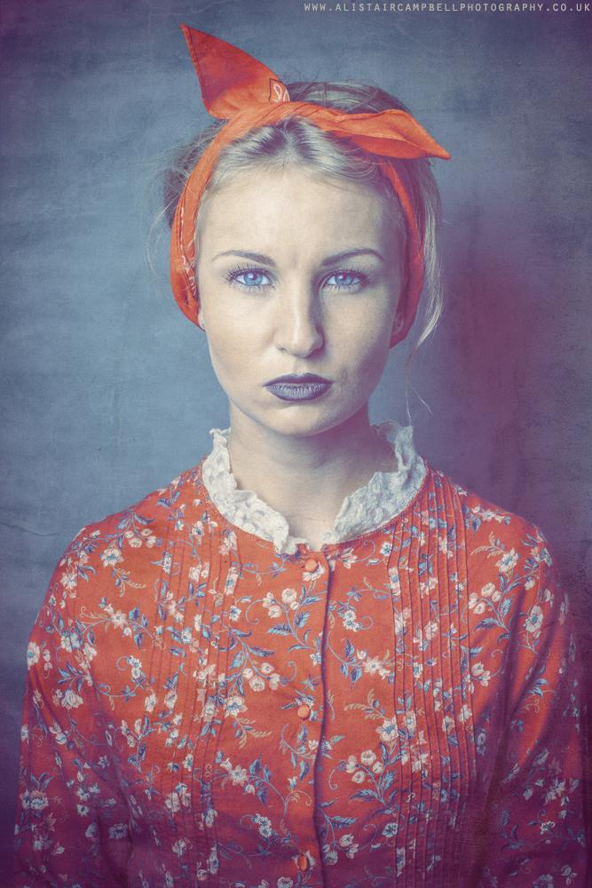 A vintage styled portrait Ft Elin
